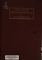Journal of the House of Representatives of South Carolina. January 8, 1782-February 26, 1782
