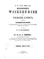 Biographisch woordenboek der Nederlanden bevattende levensbechrijvingen van zoodanige personen, die zich op eenigerlei wijze in ons vaderland hebben vermaard gemaakt door A. J. van der Aa: N,O,P,en Q, Volume 9