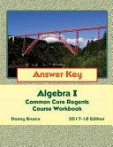 Answer Key Algebra I Book