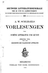 A. W. Schlegels Vorlesungen über schöne litteratur und kunst...