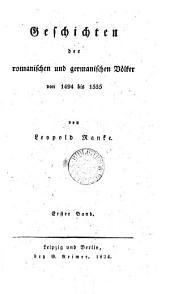Geschichten der romanischen und germanischen Völker von 1494 bis 1535: Band 2