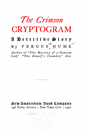 The Crimson Cryptogram: A Detective Story