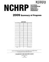 Summary of Progress   National Cooperative Highway Research Program PDF