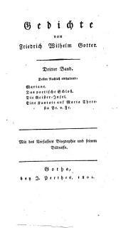 Gedichte: Nachlaß, Band 3
