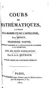 L'algèbre et l'application de l'algèbre à la géométrie. 1812