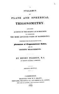 A Syllabus of Plane and Spherical Trigonometry     PDF