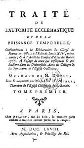 Traite De L'Autorite Ecclesiastique Et De La Puissance Temporelle (etc.)