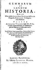 Gemmarum et lapidum historia: Part 1