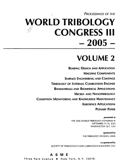 Proceedings of the World Tribology Congress III  2005 PDF