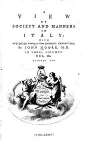 A View of Society and Manners in Italy: Volume 3