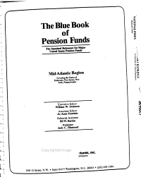 The Blue Book of Pension Funds PDF