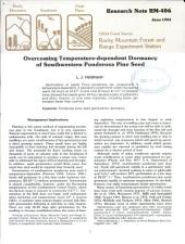 Overcoming Temperature-dependent Dormancy of Southwestern Ponderosa Pine Seed