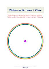 Plotinus on the Centre + Circle: Insights from the pupil of god-taught Ammonius and teacher of Porphyry. The latter edited his master's Enneads. With commentaries by HP Blavatsky.