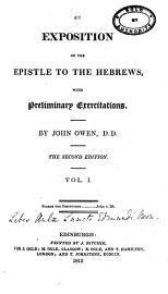 Exercitations on the Epistle to the Hebrew PDF