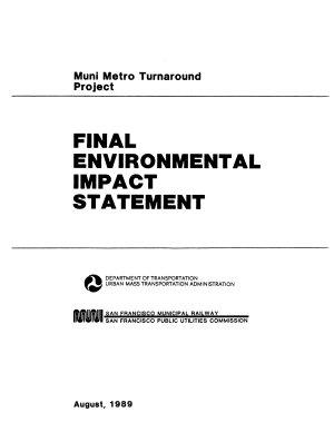 Muni Metro Turnaround Project  San Francisco PDF