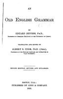 An Old English Grammar PDF