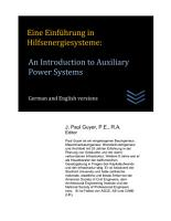 Eine Einf  hrung in Hilfsenergiesysteme  An Introduction to Auxiliary Power Systems PDF