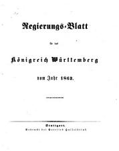 Regierungs Blatt f  r das K  nigreich W  rttemberg PDF