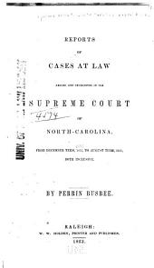 North Carolina Reports: Cases Argued and Determined in the Supreme Court of North Carolina, Volume 44