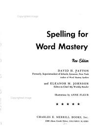 Spelling for Word Mastery