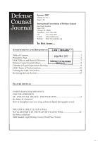 Defense Counsel Journal PDF