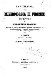 La compagnia della misericordia di Firenze cenni storici di Celestino Bianchi