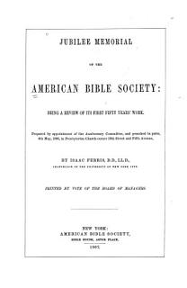 Jubilee Memorial of the American Bible Society Book