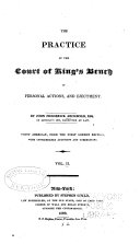 The Practice of the Court of King's Bench in Personal Actions, and Ejectment