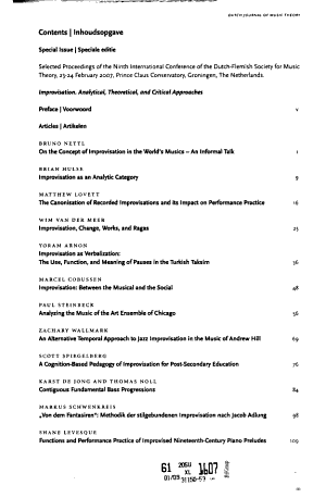 Dutch journal of music theory