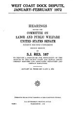 Hearings, Reports and Prints of the Senate Committee on Labor and Public Welfare