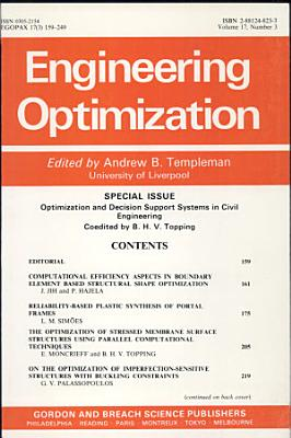 Optimization and Decision Support Systems in Civil Engineering