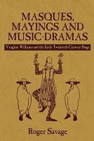 Masques  Mayings and Music dramas PDF