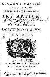 Ars artium sive de regimine Sanctimonialium diatribe