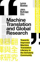 Machine Translation and Global Research PDF