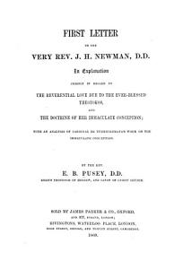 First Letter to the Very Rev  J  H  Newman  D D  PDF