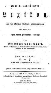 Deutsch-lateinisches Lexikon: Band 2