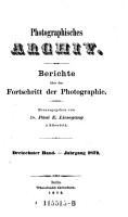 Photographisches Archiv   Journal des allgemeinen deutschen Photographen Vereins PDF