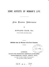 Some aspects of woman's life, 5 Lenten addresses