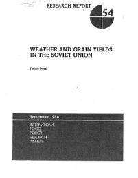 Weather and Grain Yields in the Soviet Union