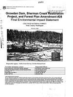 Colville National Forest  N F    Growden Dam  Sherman Creek Restoration Project  and Forest Plan Amendment  28 PDF