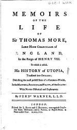 Memoirs of the Life of Sir Thomas More