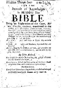 Hidden Things Brought to Light for the Increase of Knowledge in Reading the Bible  Being an explanation of the coyns  money  weights  measures  mentioned in the Bible     The second edition PDF