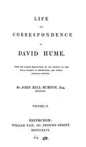 Life and Correspondence of David Hume ...