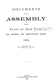 Documents of the Assembly of the State of New York: Volume 38
