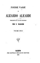 Poesie varie di Aleardo Aleardi, etc