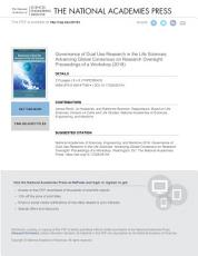 Governance of Dual Use Research in the Life Sciences PDF