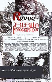 Revue biblio-iconographique: Volume7