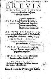 Brevis institutio ad christianam pietatem
