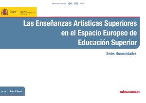 Las ensa  anzas art  sticas superiores en el espacio europeo de educacion superior PDF