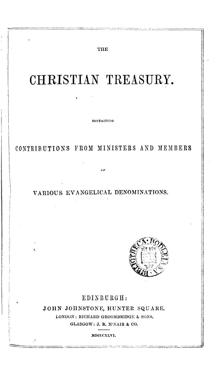 The Christian treasury (and missionary review).